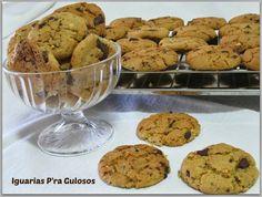 Iguarias p'ra Gulosos: Bolachas de Manteiga de Amendoim e Chocolate Negro...