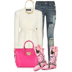 All I ever wanted was to see you smiling by hayr0se on Polyvore featuring polyvore, fashion, style, Balmain, Polo Ralph Lauren, Realtree and Versace