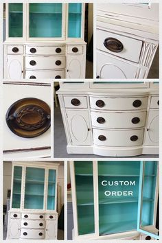 Painted China Cabinet by Vintage Charm and Restoration