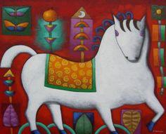 Xavier Portilla Naive Art, Grinch, Folk Art, Collage, Horses, Ecuador, Christmas Ornaments, Abstract, Holiday Decor