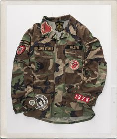 Rolling Stones Keith Custom Camouflage Military Jacket 1
