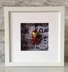 Marvel Avengers Iron Man Figure Effect Boxed by BenjoCreations Box Frame Art, Box Frames, Man Figure, Scrabble Art, Framed Pictures, Marvel Avengers, Iron Man, Kid Stuff, Framed Art