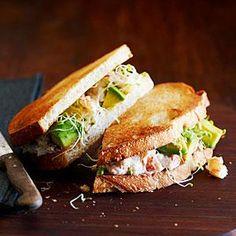 California Crab Sandwich Recipe   MyRecipes.com