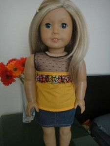 No Pattern Summer Tops for American Girl Dolls | Free Sewing Pattern for American Girl Dolls