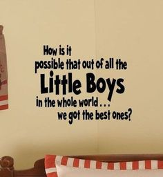 Kids Room BEST LITTLE BOYS Nursery Vinyl Wall by TheBabyDolls, $19.99
