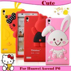 P6  Kitty Silicon Cover Case For Huawei Ascend P6 , kawai & Qute Cartoon $12.00 - 15.00