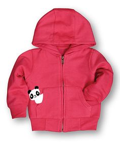 Look what I found on #zulily! Raspberry Panda Zip-Up Hoodie - Infant by LC Trendz #zulilyfinds