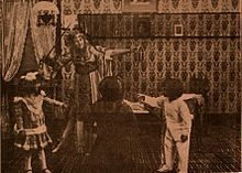 Still from the 1910 silent film The Fairies' Hallowe'en.  The film is lost.