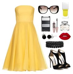 """""""Hufflepuff - Formal"""" by catyisamazing11 on Polyvore featuring Alexander McQueen, Bling Jewelry, Lime Crime, Gucci, Maybelline and Givenchy"""