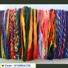Textured Yarn Craft Pack - Muilti Colours 02
