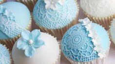 Hochzeits-Cupcakes mit Anleitung
