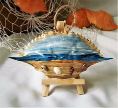 Excited to share the latest addition to my #etsy shop: Painted Shell,Beach Decor, Beach Sign, Coastal Art, Seashell Art, Hand-painted Crab Shell Collectible #vintage #collectibles #beige #beachdecor #coastalart #seashellart #paintedshell #crabshell etsy.me/2hueHOC