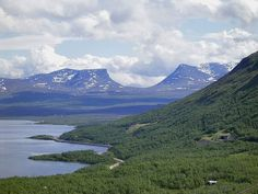 Lapporten mountain pass in Lapland