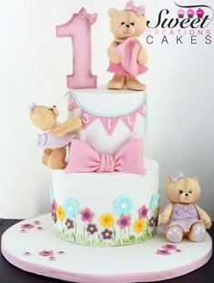 Spring first birthday cake