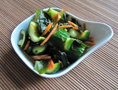 Japanese Cucumber Pickles with Wakame (