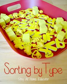 Sorting is a popular activity in preschool classrooms, and with good reason, too. The ability to sort, todefine attributes and organize materials or objects according to those likes and differenc...