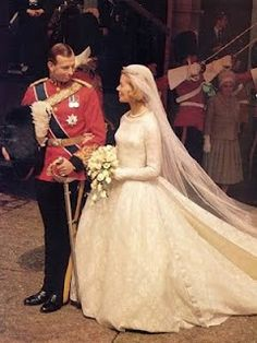 SON of PRINCE GEORGE, DUKE of KENT (BR of GEORGE VI). The Duchess of Kent (Miss Katharine Worsley) on her wedding day to HRH Prince Edward, Duke of Kent - June 8, 1961