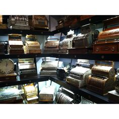 Antique cash registers from NCR