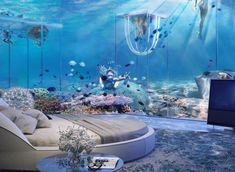Dubai's Newest Underwater Resort Will Make You Feel Like The Little Mermaid In Dubai, Dubai Hotel, Visit Dubai, Underwater Hotel, Underwater Restaurant, Places To Travel, Travel Destinations, Places To Go, Piscina Interior