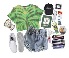 """""""the girl you wouldn't expect to be a stoner but is"""" by bands-save-fans ❤ liked on Polyvore featuring Calvin Klein, Vans, CO and Susquehanna Glass"""