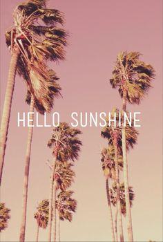 Hello sunshine palm tree and summer sky pink wallpaper white Summer Of Love, Summer Fun, Pink Summer, Hello Summer, Pink Beach, Summer Baby, Style Summer, Beach Bum, Summer 2014