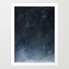 watercolour universe 2.0 Art Print by byRosa - $15.00
