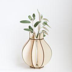 Flatpack vase (laser cut plywood)