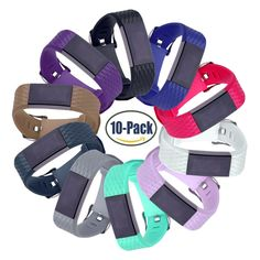Hotodeal Replacement Bands for Fitbit Charge 2, Classic Fitness Silicone Wrist Band Accessory, Colorful Band Design with Adjustable Metal Clasp for 2016 Fitbit Charge Diamond, Pack of 10. SOFT SILICONE -- Skin-friendly TPE+TPU composite material, breathable elastic replacement band specially designed for fitbit charge 2; Lightweight, yet very sturdy, seamless fit with the tracker as the original. SIMPLE but SECURE-- No hassle, super easy and convenient to install or replace, personalize…