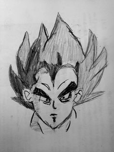 My first drawing of Vegeta