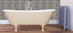 Cast Iron Baths - The Berwick - Painted Farrow & Ball Hay.