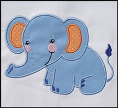 Baby Elephant Applique and Fill designs 4x4 by DBembroideryDesigns, $4.99
