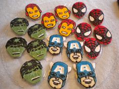 marvel hero cookies