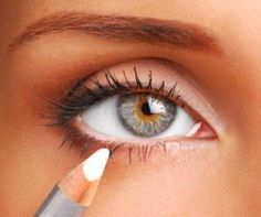 Use white eyeliner on your bottom lid to   make  your eyes and face brighter!