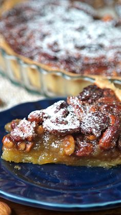 Chocolate Pecan Pie Bars - Welcome my homepage Gourmet Recipes, Sweet Recipes, Cake Recipes, Dessert Recipes, Cooking Recipes, Sweet Pie, Sweet Tarts, Nutritious Snacks, Healthy Desserts