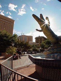 Downtown El Paso, Texas. El Paso is known as The Capital of The Border.