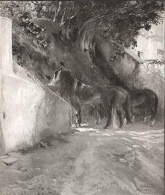 Paul Albert Besnard Horses 1894, oil. Met Museum. Gift of Adelaide Milton DeGroot, 1967. Accession number 54.