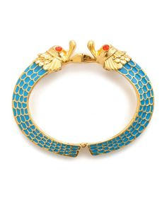 Kissing fish hinge bangle bracelet - a cutie from Betsey Johnson.