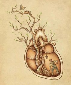 Not the gardener...but I like the idea of things inside a real heart.