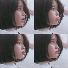 She is so sweet ☁️ Iu Short Hair, Short Hair Styles, Kpop Girl Groups, Kpop Girls, Iu Fashion, Korean Actresses, Ulzzang Girl, Asian Beauty, My Idol