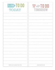 to-do-list-printable - this would be good to have at work! a whole notebook of them!