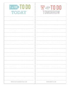 {free} printable to do lists