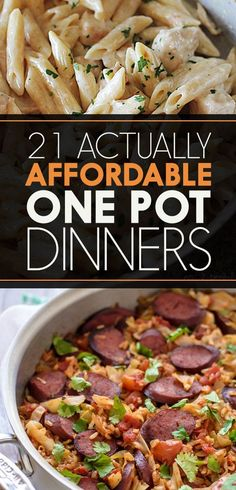 21 Actually Affordable One Pot Dinners