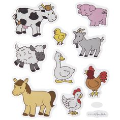 Farm Animal Stickers Craft Stickers, Stickers Online, Free Stickers, Flannel Board Stories, Flannel Boards, Diy Projects Videos, Fun Projects, Print Coupons, Sticker Shop