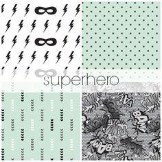 Superhero Crib Bedding Set, Comic Book Nursery Bedding, Customizable Baby Bedding Set