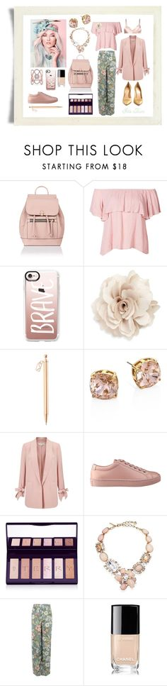 """La vida en rosa"" by gildafuentesb ❤ liked on Polyvore featuring Accessorize, Casetify, Cara, Forevermark, Tory Burch, Miss Selfridge, GUESS, By Terry, Oscar de la Renta and Pilot"