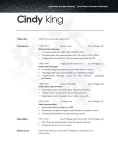 Template Resume Open Office Modern Format Free Ideas