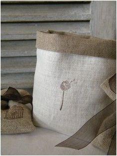 love the burlap bags