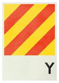 Y - Navy Signal Prints