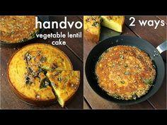 gujarati handvo recipe - 2 ways baked & tawa Gujarati Cuisine, Gujarati Recipes, Indian Food Recipes, Vegetarian Recipes, Gujarati Food, Dhokla Recipe, Sabzi Recipe, Quick Indian Snacks, Kitchen Recipes