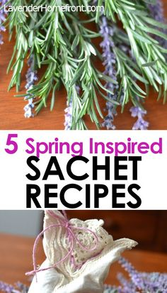 Head into spring with these beautifully scented sachet potpourri recipes! Using essential oils, dried herbs and flowers, these potpourris will have your drawers and closets smelling lovely. How To Make Potpourri, Homemade Potpourri, Scented Sachets, Lavender Sachets, Dried Rose Petals, Dried Flowers, Sachet Bags, How To Dry Rosemary, Drying Herbs